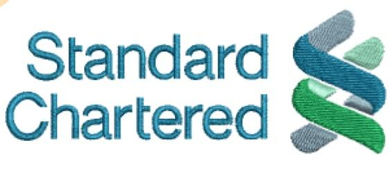 Standart charteret Bank embroidery design