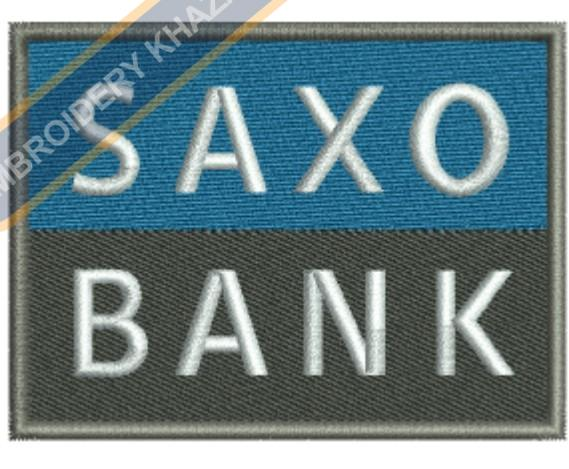 SAXO Bank embroidery design