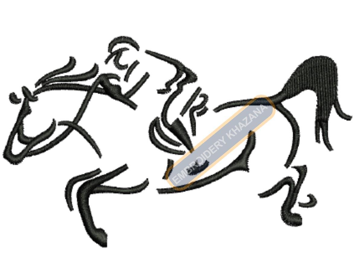 boy horse ridding