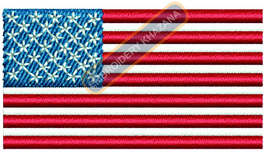 US FLAG LOGO  EMBROIDERY DESIGN