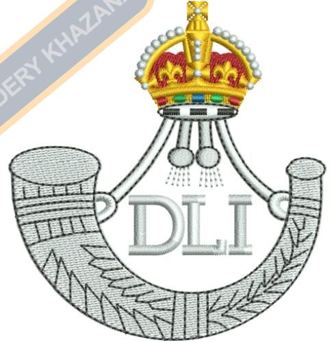 Durham Light Infantry badge embroidery design