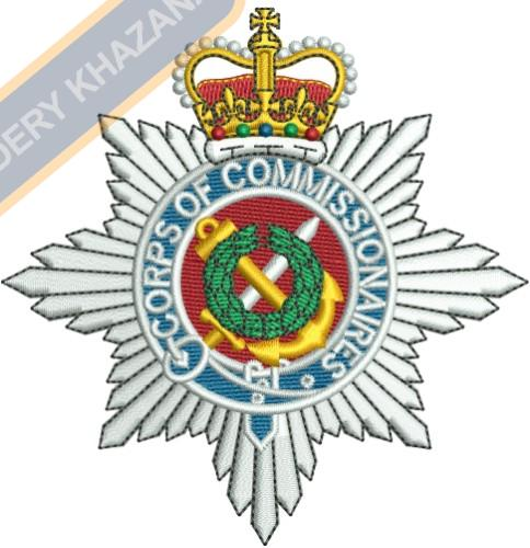 crops of commissionaries badge embroidery design