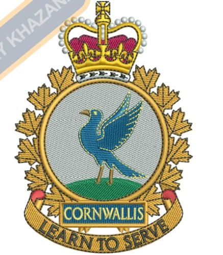 Cornwallis Badge embroidery design