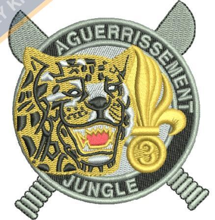 aguerrissement jungle embroidery design