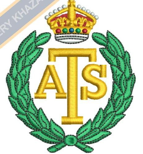 Auxiliary Territorial Service crest embroidery design