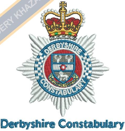 derbyshire constabulary crest embroidery design