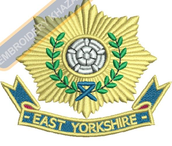 east yorkshire badge embroidery design