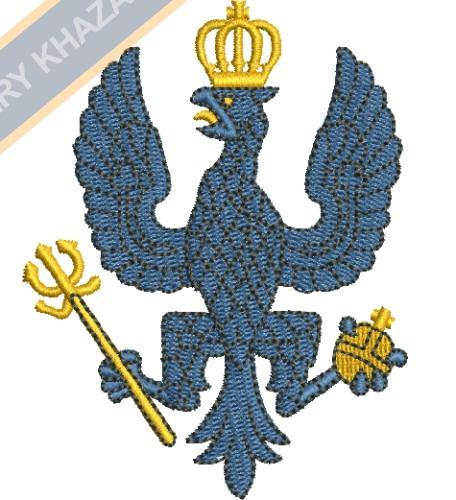 army eagle badge embroidery design