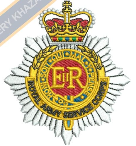 royal corps of transport crest embroidery design