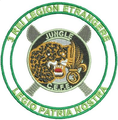 jungle cefe badge embroidery design