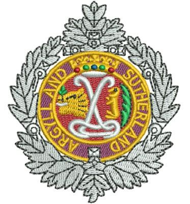 argyll and sutherland embroidery design