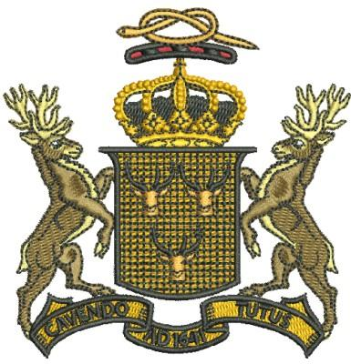 The Nottingham Coat of Arms embroidery design