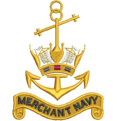 merchant navy badge embroidery design