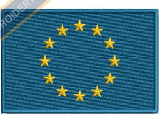 EUROPEAN FLAG embroidery design
