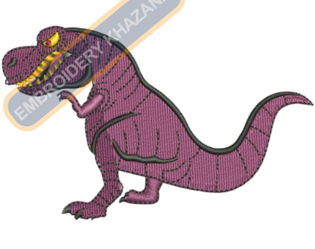 Dino embroidery design