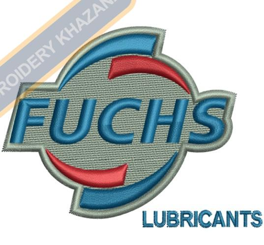 Fuchs Lubricants Logo Embroidery Design