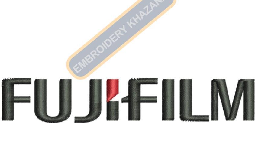 Fujifilm Logo Embroidery Designs
