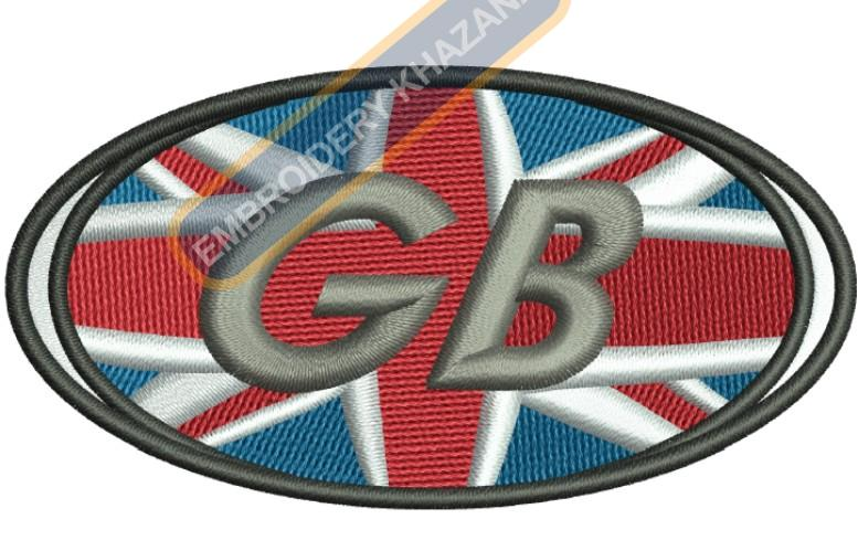 Great Britain Flag embroidery design