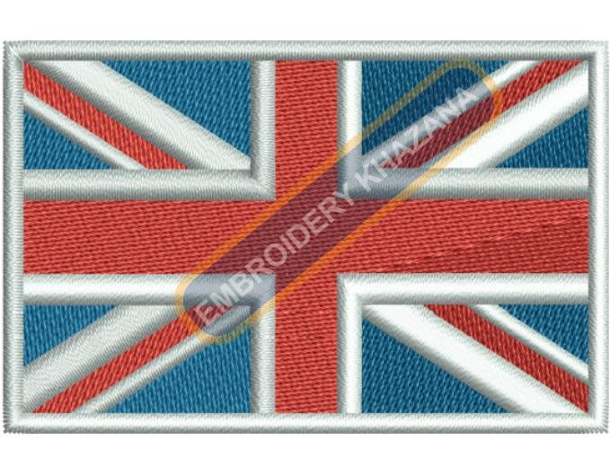 United kingdom flag embroidery design