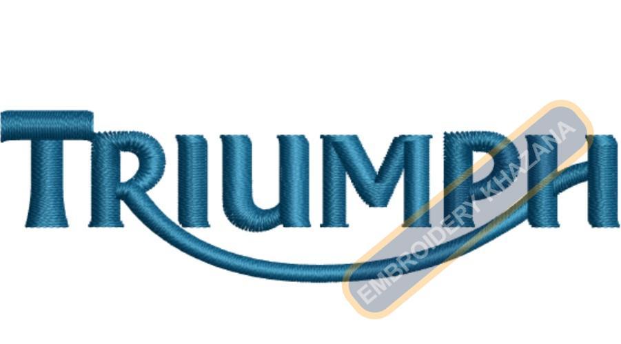 Triumph badge embroidery design
