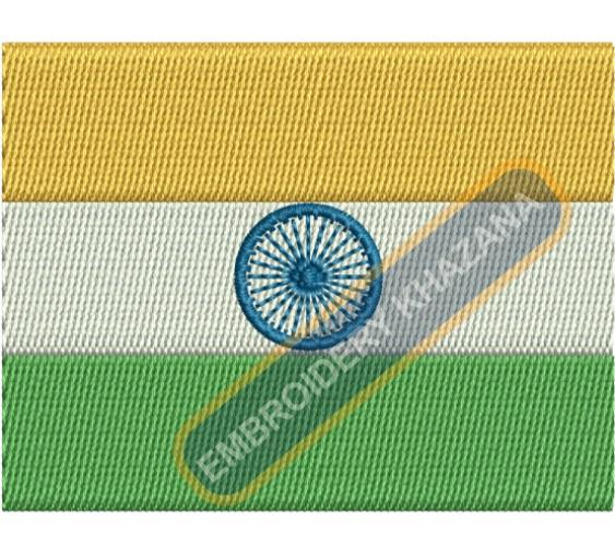 Indian Flag Embroidery design
