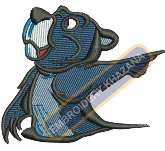 Gopher embroidery design