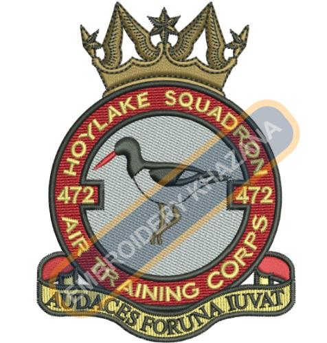 472 Hoylake Sqn  crops badge embroidery design