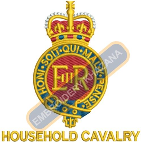 HOUSEHOLD CAVALRY badge embroidery design
