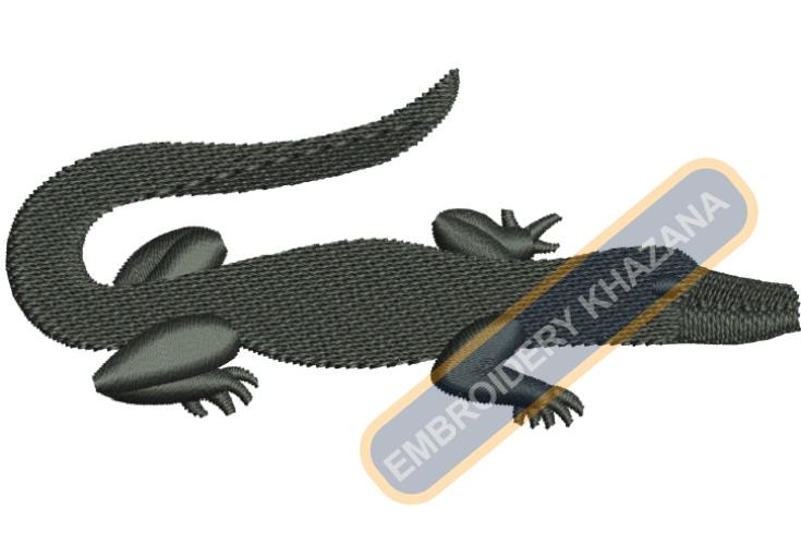 alligator embroidery design