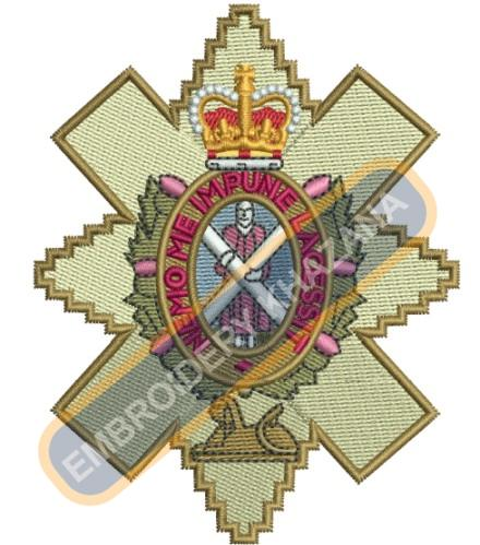 The Black Watch crest embroidery design