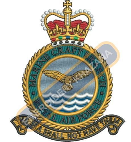 RAF Royal Air Force Marine crest embroidery design