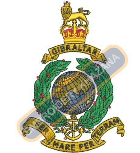 royal Marines badge embroidery design