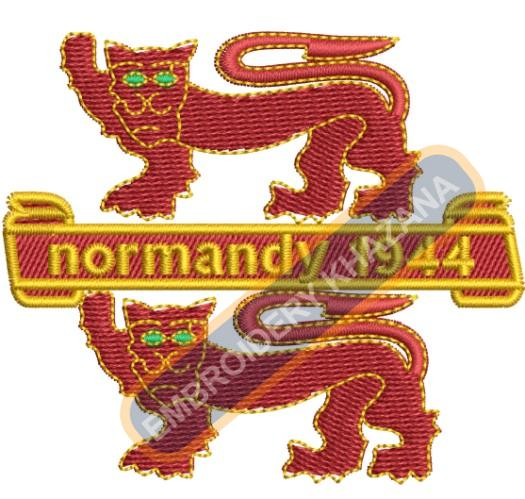 Normandy crest embroidery design