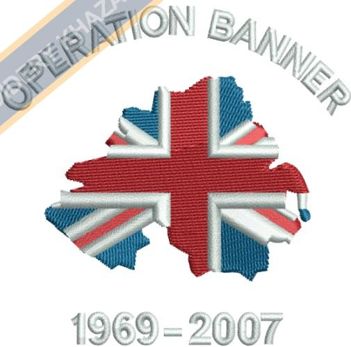 Operation Banner crest embroidery design