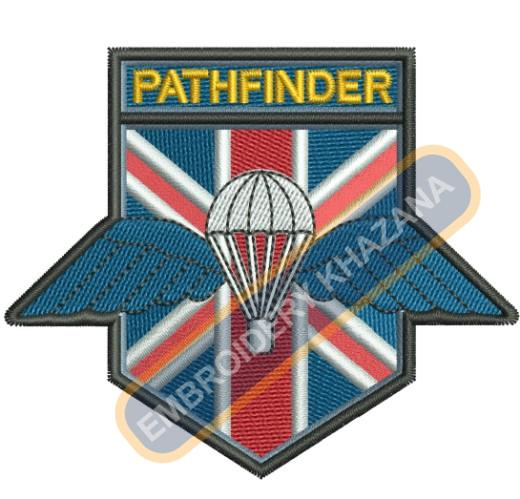 Pathfinder Parachute crest embroidery design