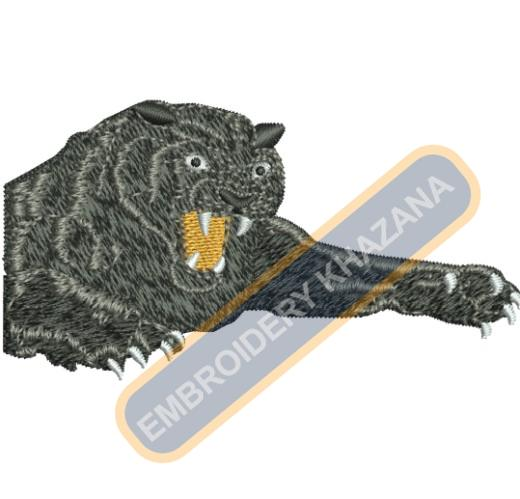 Panthers embroidery design