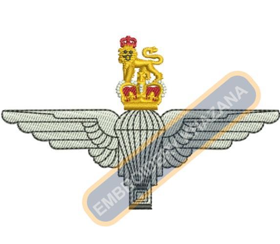 The Parachute Regiment crest embroidery design