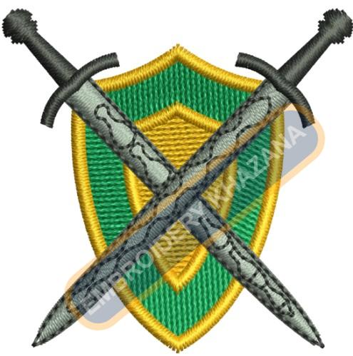 Swords with Shield embroidery design