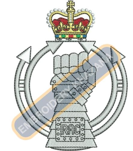 the royal armoured corps badge embroidery design