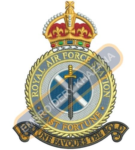 RAF Leuchars crest embroidery design