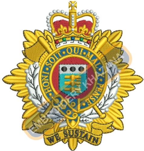 Royal Logistic Corps embroidery design