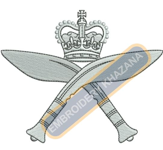 The Royal Gurkha Rifles crest embroidery design