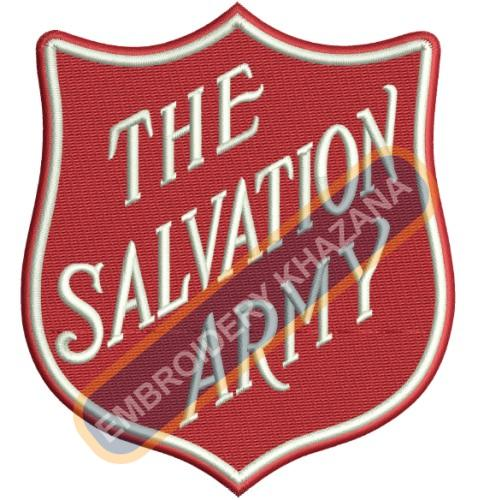 The salvation army embroidery design