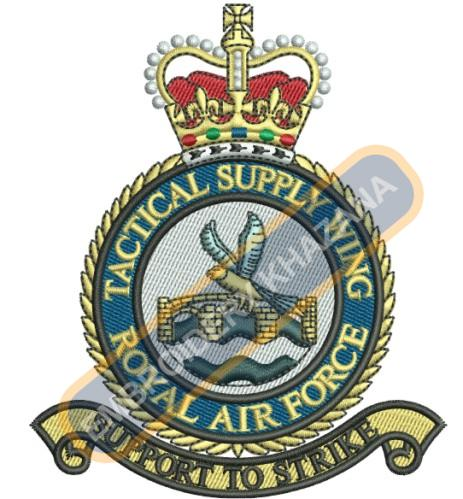 Tactical Supply Wing crest embroidery design