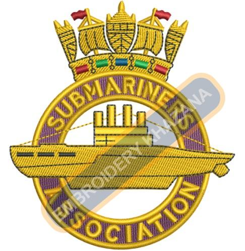 SubMariners Association crest embroidery design