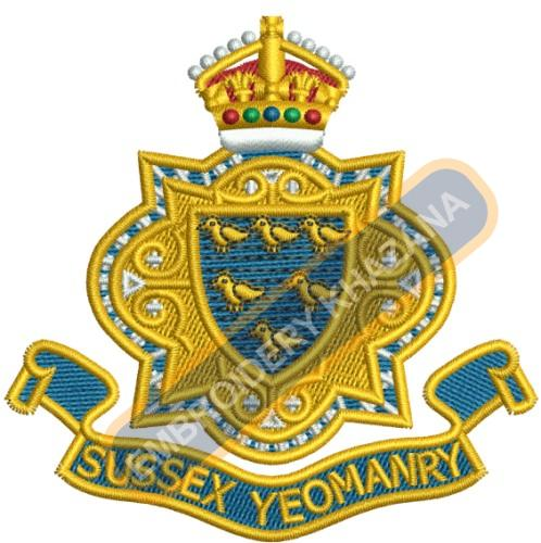 Sussex Yeomanry Blazer embroidery design