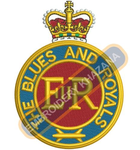 THE Blues and Royals crest embroidery design