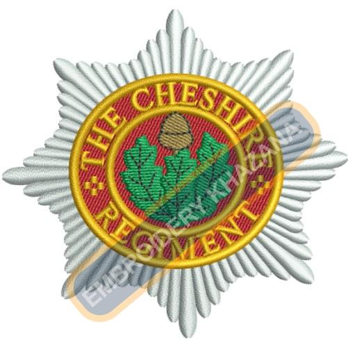 the cheshire regiment embroidery design