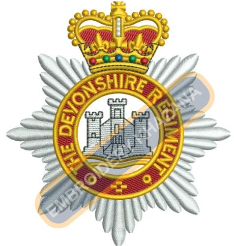 Devonshire Regiment Bullion embroidery design