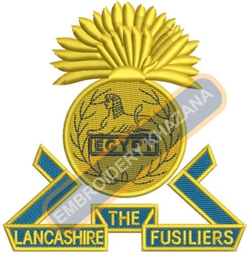The Lancashire Fusiliers embroidery design